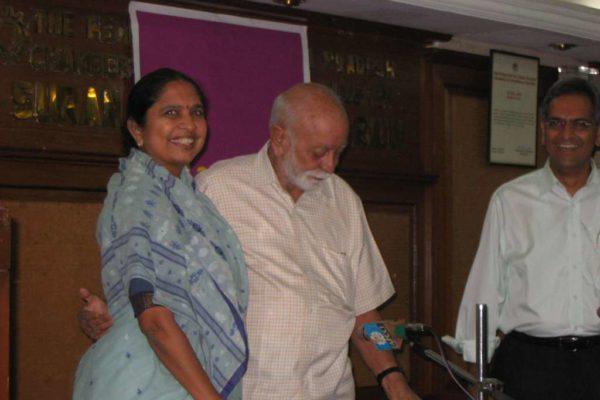 K G Kannabiran with Shantha Sinha